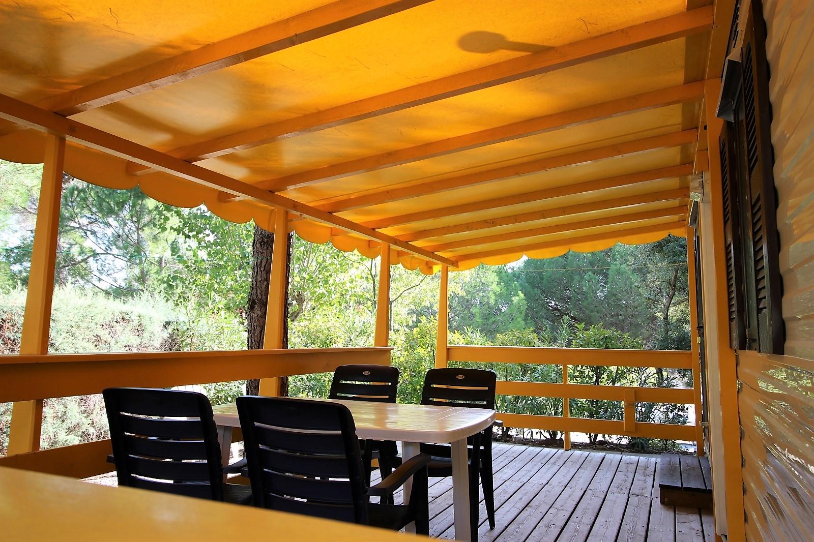 Cottage stacaravan veranda 441