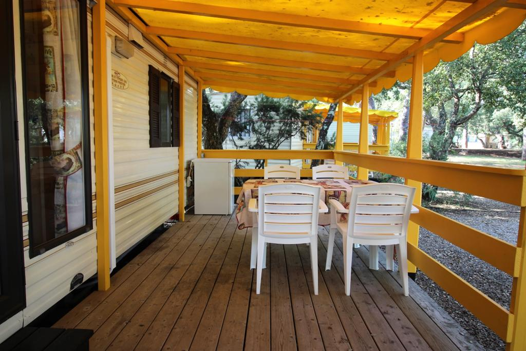 Cottage stacaravan veranda